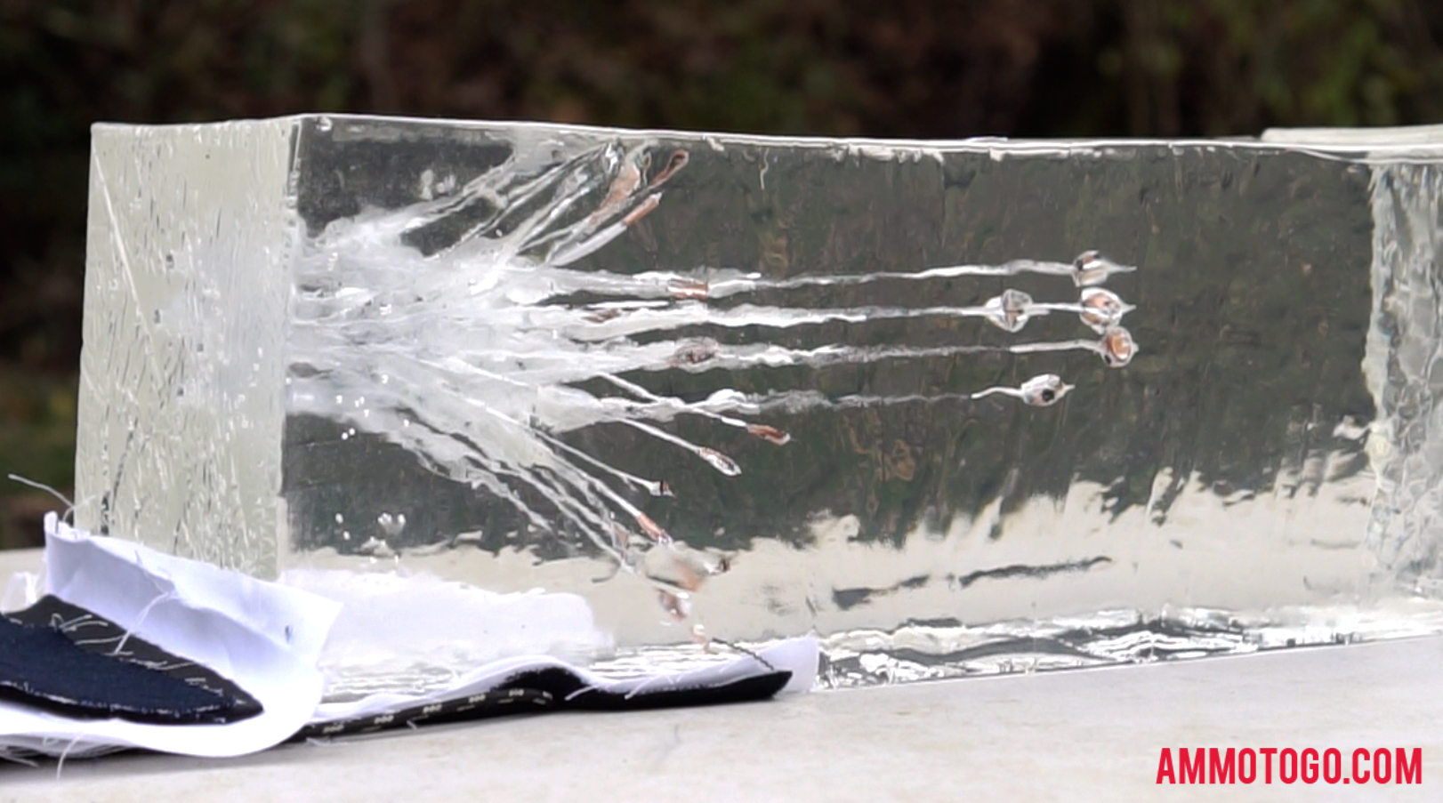 Hollow Point Ammo Fired Into Ballistic Gel