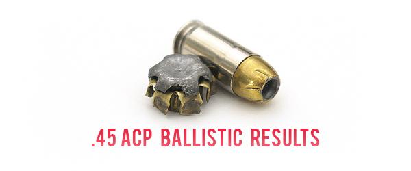 45ACP Ballistic Test Results